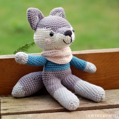 Crochet Wolf Amigurumi Project: British Wool | TOFT | 500x500